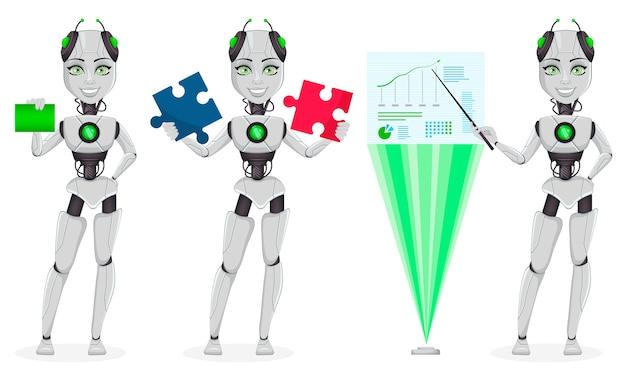 Roboter mit künstlicher intelligenz, weiblicher bot