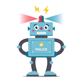 Roboter polizist charakter