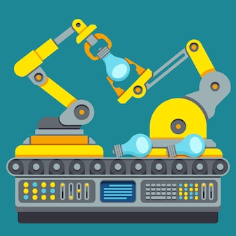 Roboter-produktionslinie