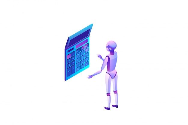 Roboter-prozessautomatisierungskonzept mit roboterberechnung