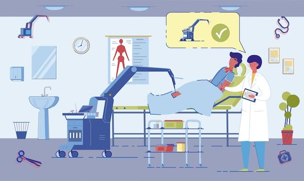 Roboter robotergestütztes chirurgisches verfahren in hospita
