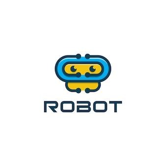 Roboter-symbol-anwendungs-logo