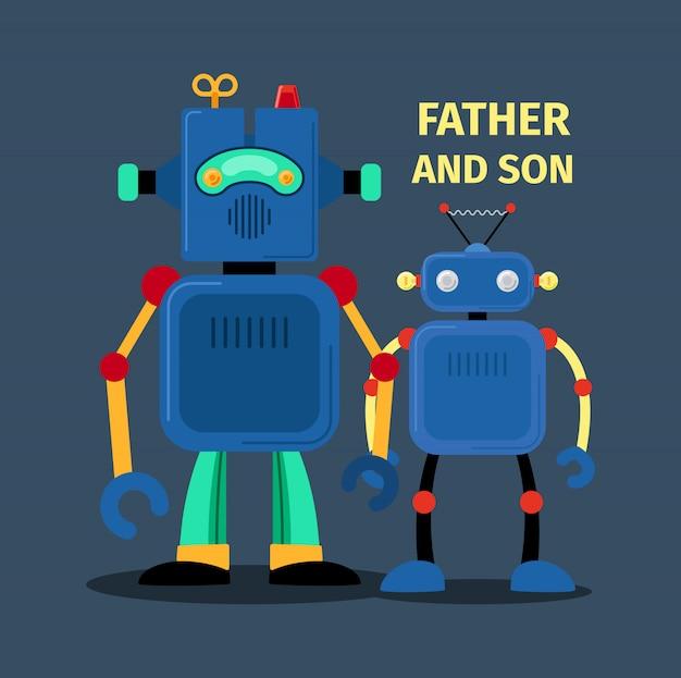 Roboter vater und sohn
