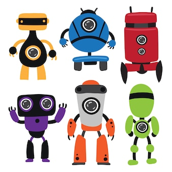 Roboter-vektor-sammlung design
