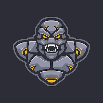 Roboterarmee-maskottchen e-sport-logo-charakter