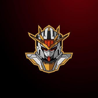 Roboterkopf cyborg roboter roboterkopf cyborg roboter logo