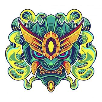 Roboterkopf esport maskottchen logo
