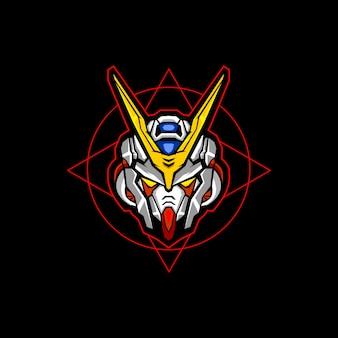 Roboterkopf esports logo-vektor-design
