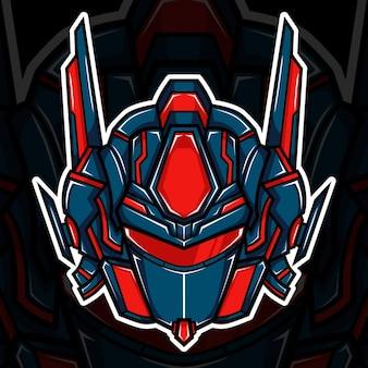 Roboterkopf-maskottchen-vektor-illustration