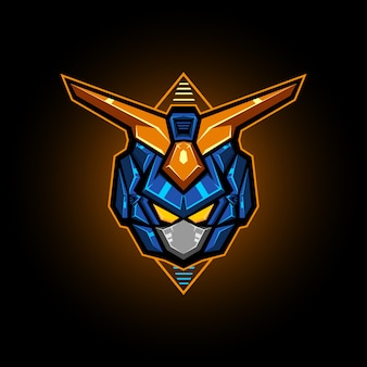 Roboterkopf-vektor-illustration esports logo