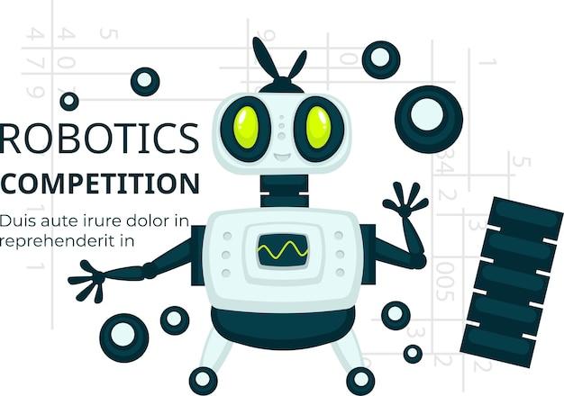 Robotik-wettbewerb, anzeige von android-vektoren
