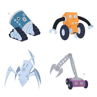 Robots miner charakterkonzept.