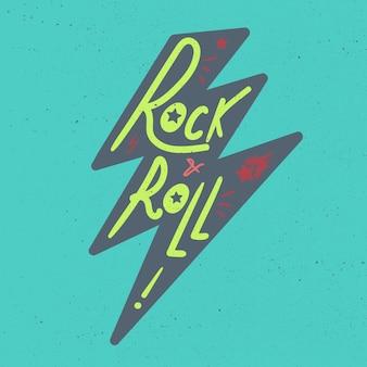 Rock-and-roll-beschriftung