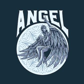 Rock in engel illustration