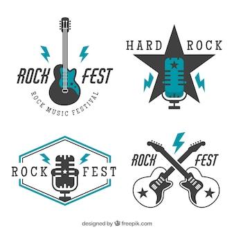 Rock logos sammlung im vintage-stil
