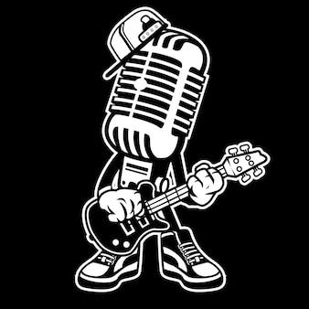 Rock mic cartoon