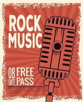 Rock musica festival flyer
