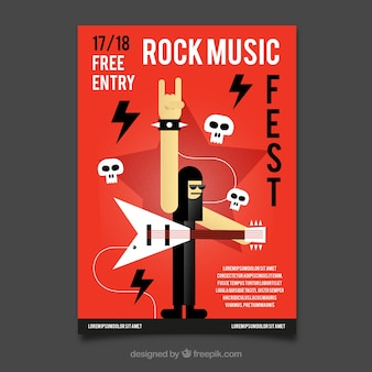 Rock-musik-party-plakat-vorlage