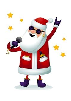 Rock'n'roll santa charakter