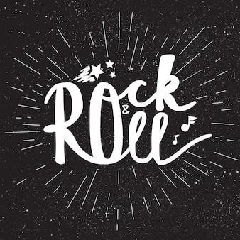 Rock'n'roll-schriftzug