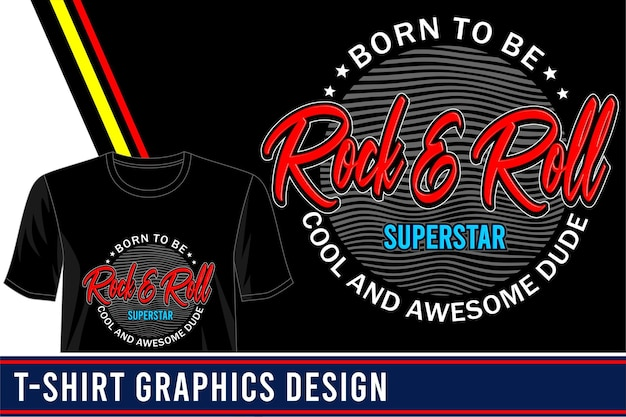 Rock'n'roll-t-shirt design Premium Vektoren
