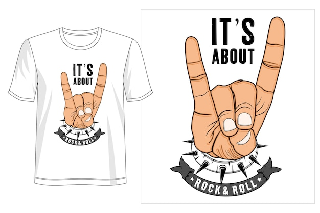 Rock nd roll t-shirt design