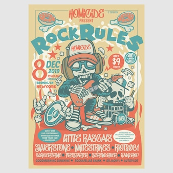 Rock rules festival flyer