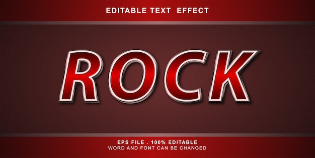 Rock text effekt bearbeitbare illustration