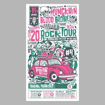 Rock tour poster festivals