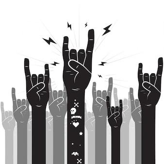 Rock und roll handzeichen