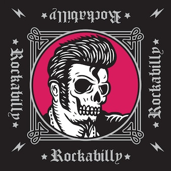 Rockabilly-schädel