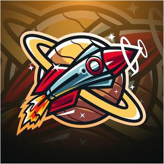 Rocket esport maskottchen logo design
