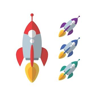 Rocket-explosion-icon-design