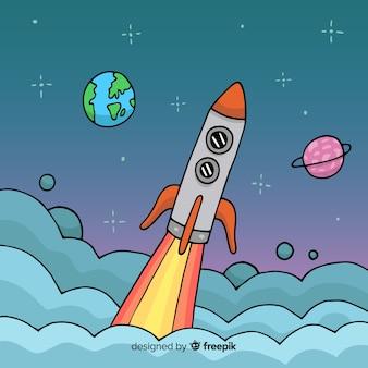 Rocket hintergrund start