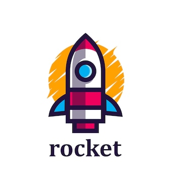 Rocket minimalistisches logo