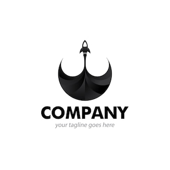 Rocket schwarzes logo-symbol