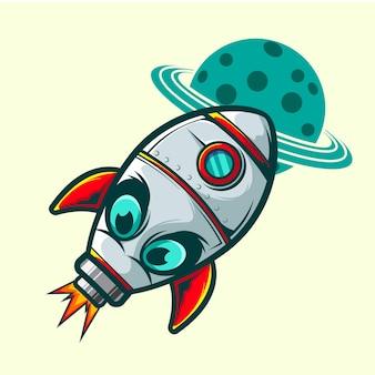Rocket space illustration
