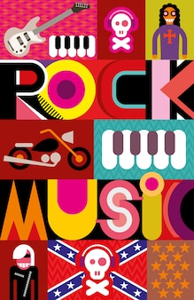 Rockmusik-plakat