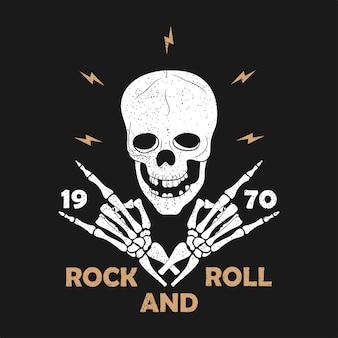 Rocknroll-drucke für t-shirt set von grafikdesign für kleidung t-shirt kleidung mit gitarre