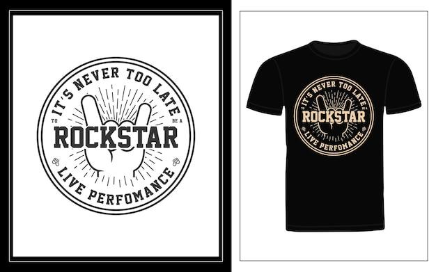 Rockstar typografie t-shirt design