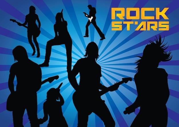 Rockstars silhouetten