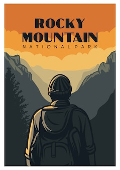 Rocky mountain nationalpark poster
