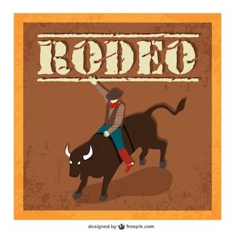 Rodeo cartoon-vektor