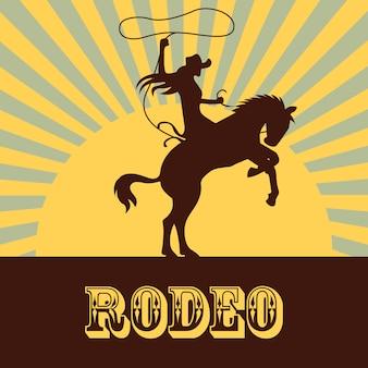 Rodeo hintergrund mit frau