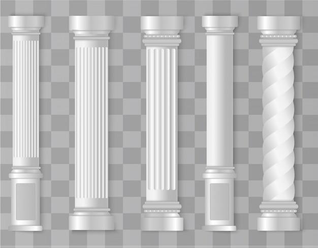 Römische, griechische säule. antike antike architektur.