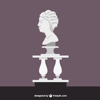 Römische skulptur eines kopfes
