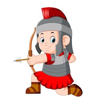 Römischer soldat mit bogen