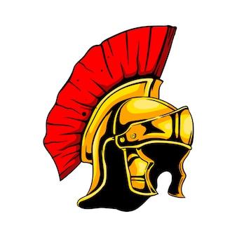 Römischer spartanischer gladiatorhelm