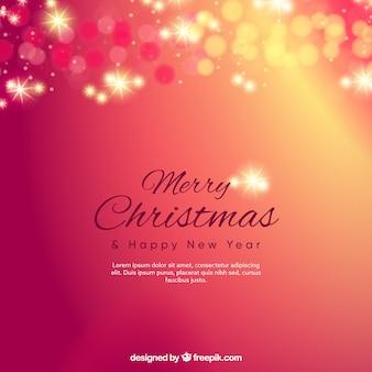 Rötliche bokeh frohe weihnachten hintergrund