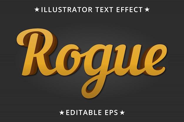 Rogue editable text style-effekt